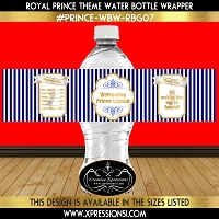 Royal Prince with Stripes Water Bottle Wrapper