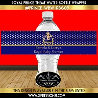 Gold Dots on Blue Water Bottle Wrapper