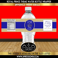 Royal Prince Water Bottle Wrapper