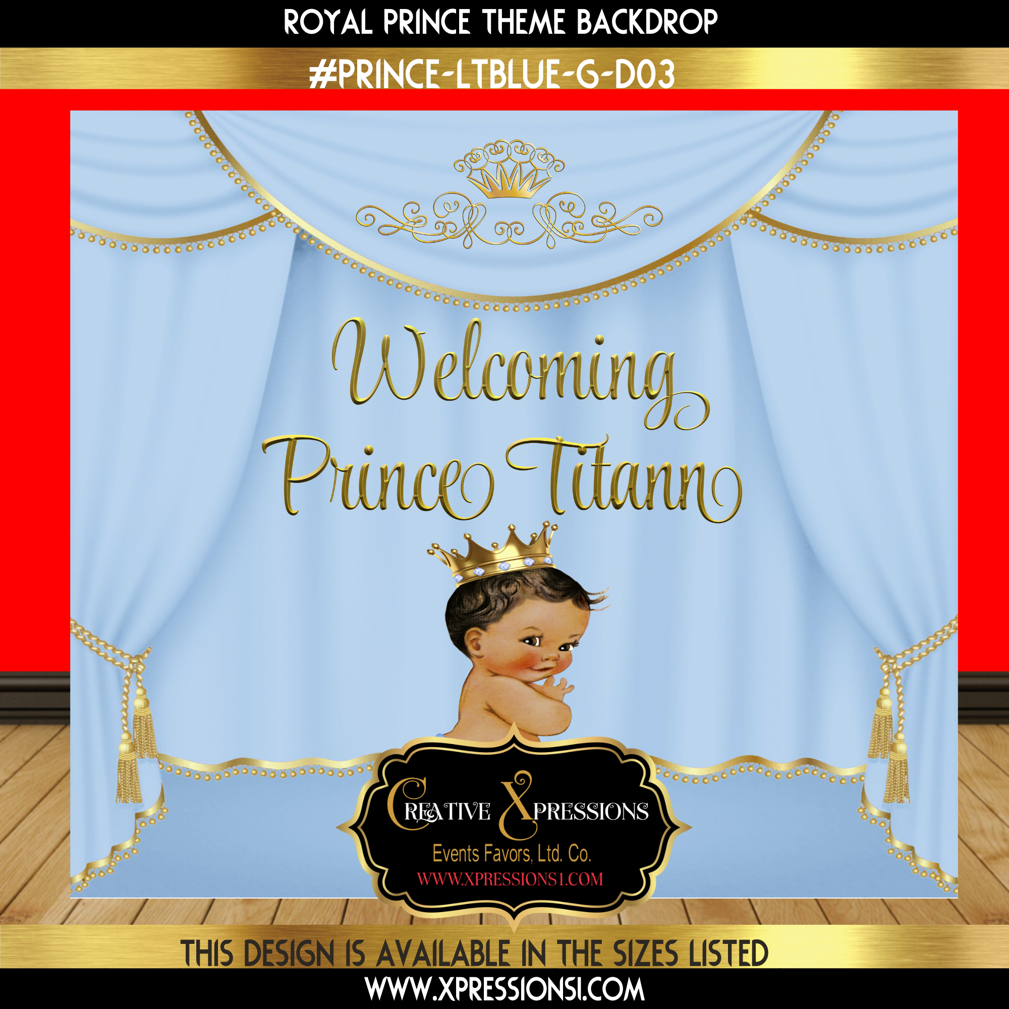 Royal Prince Baby Shower Backdrop