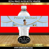 Sitting Prince Water Bottle Wrapper