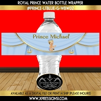 Sitting Prince with Ornate Crown Water Bottle Wrapper