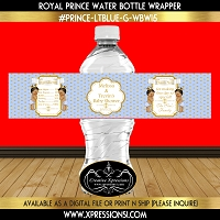 Golden Dots Prince Water Bottle Wrapper