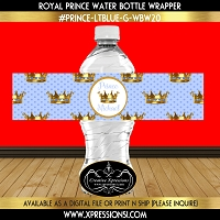 Crowns Water Bottle Wrapper