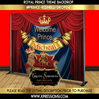 Red and Blue Prince Backdrop