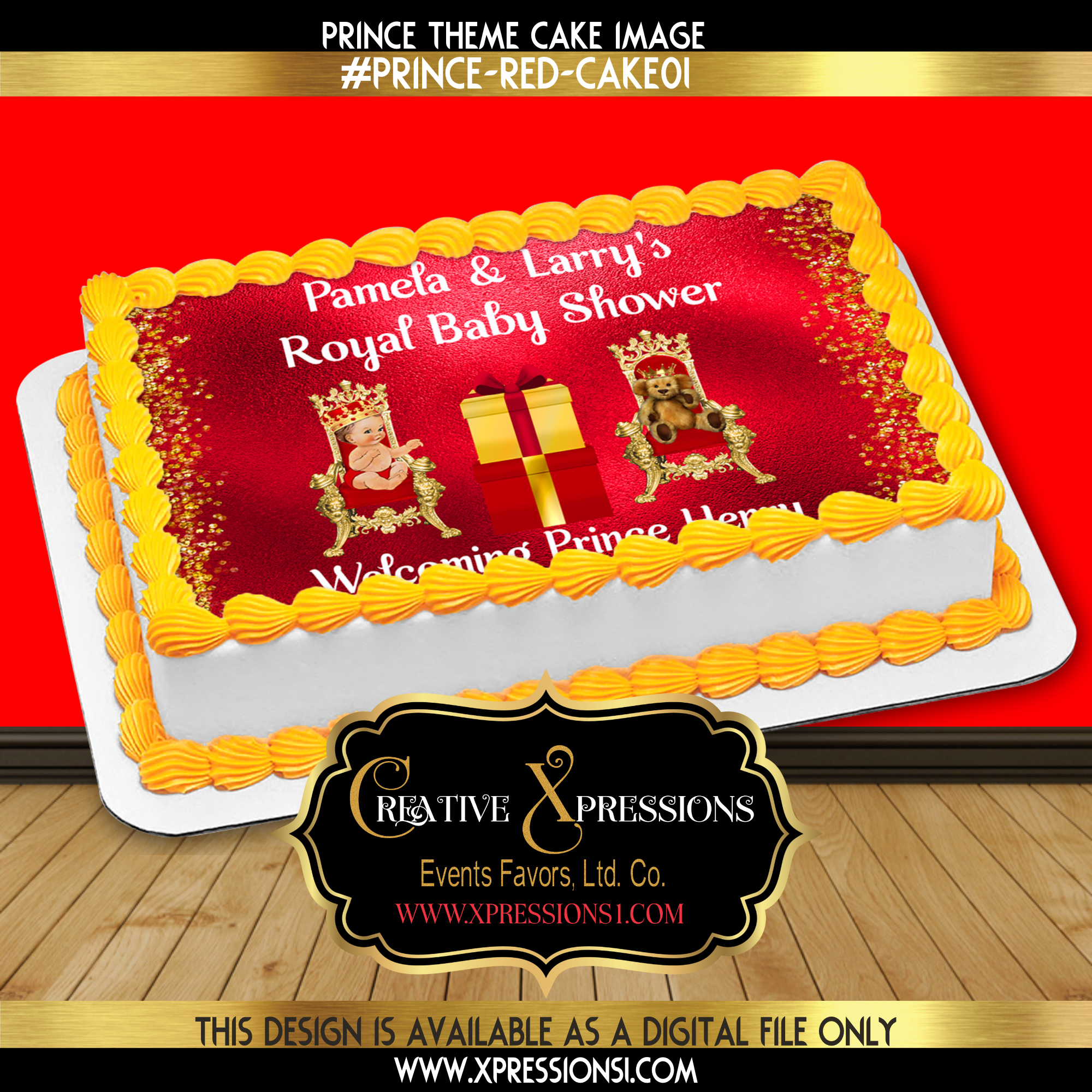 Royal Prince with Bear Cake Image