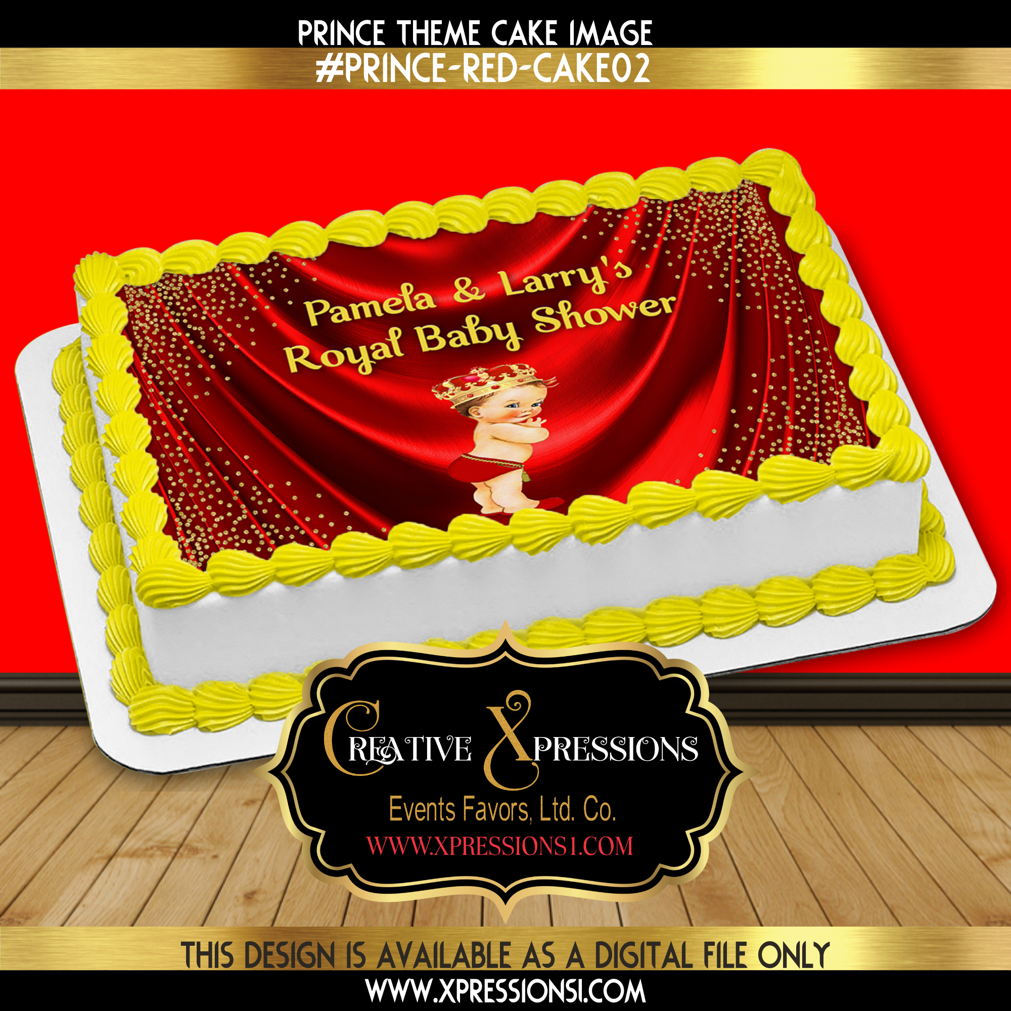 Royal Prince with Glitter Cake Image