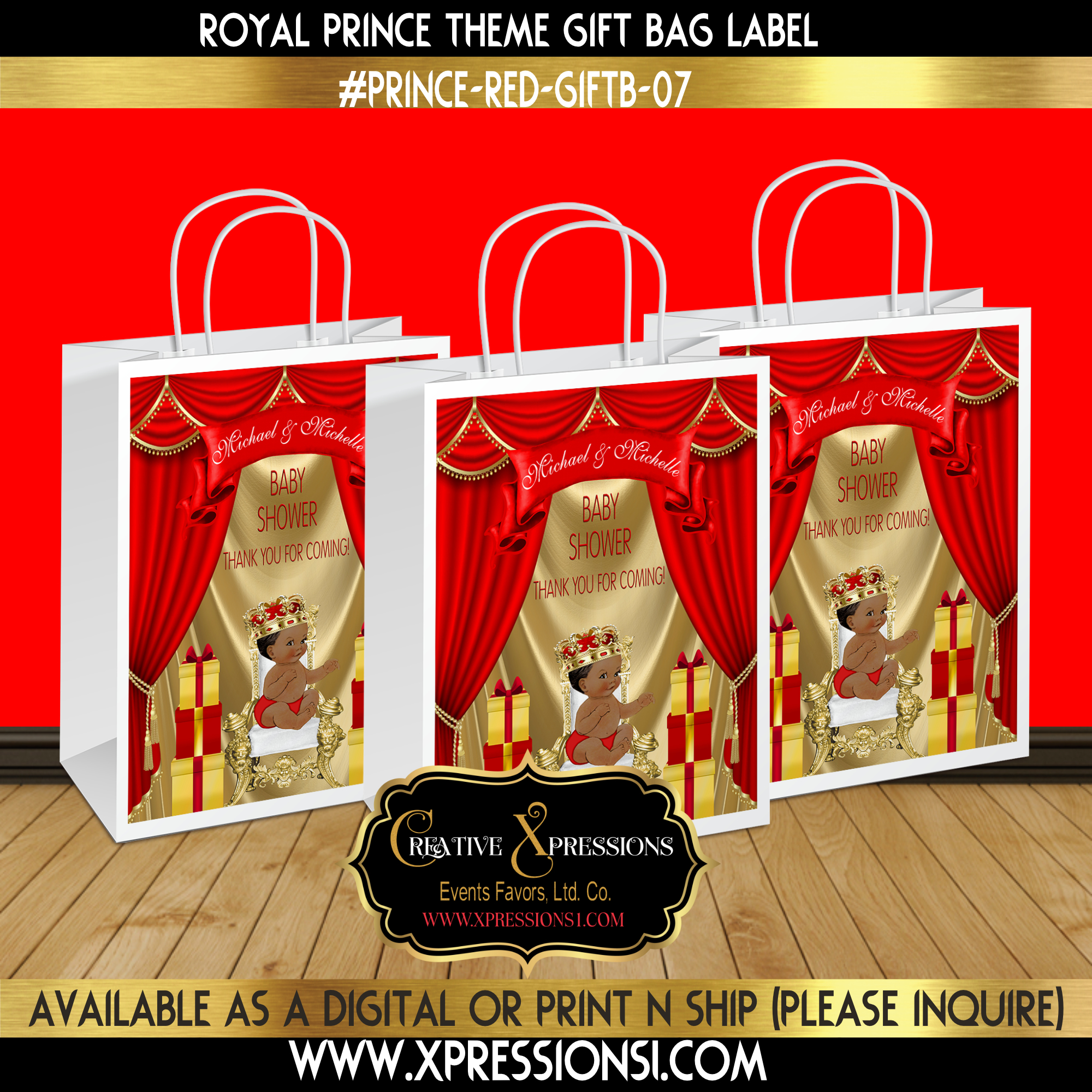 Royal Prince with Presents Gift Bag