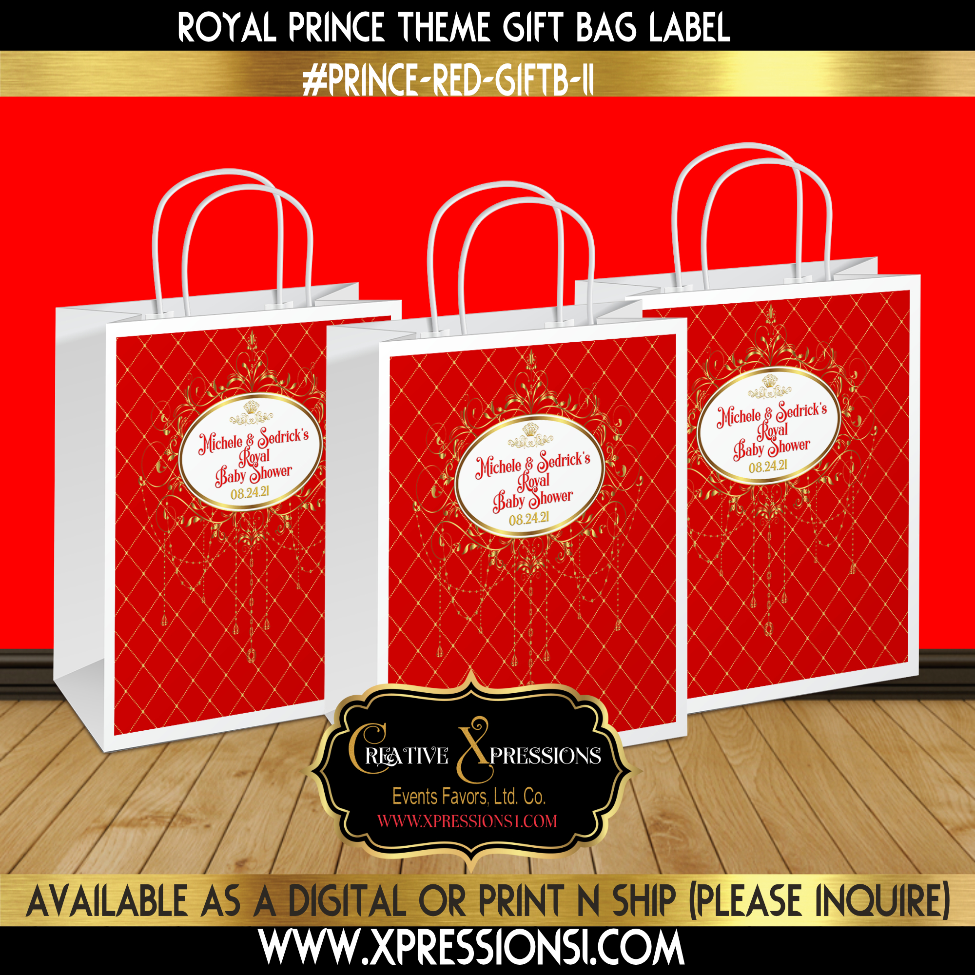 Fancy Royal Frame Gift Bag