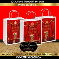 Royal Prince with Slippers Gift Bag