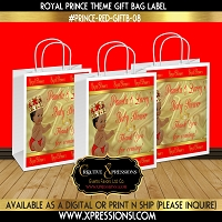 Prince with Ornate Crown Gift Bag