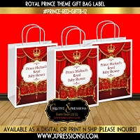 Red with Chandelier Gift Bag