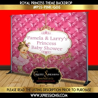 Tutus and Tiaras Baby Shower Backdrop