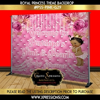 Pink and Pearls Baby Shower Backdrop