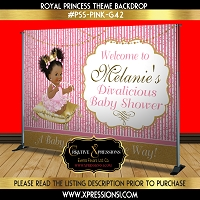 Pink Diva Princess Backdrop