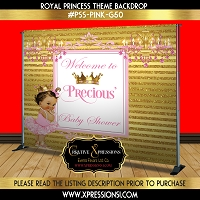 Princess Welcome Baby Shower Backdrop