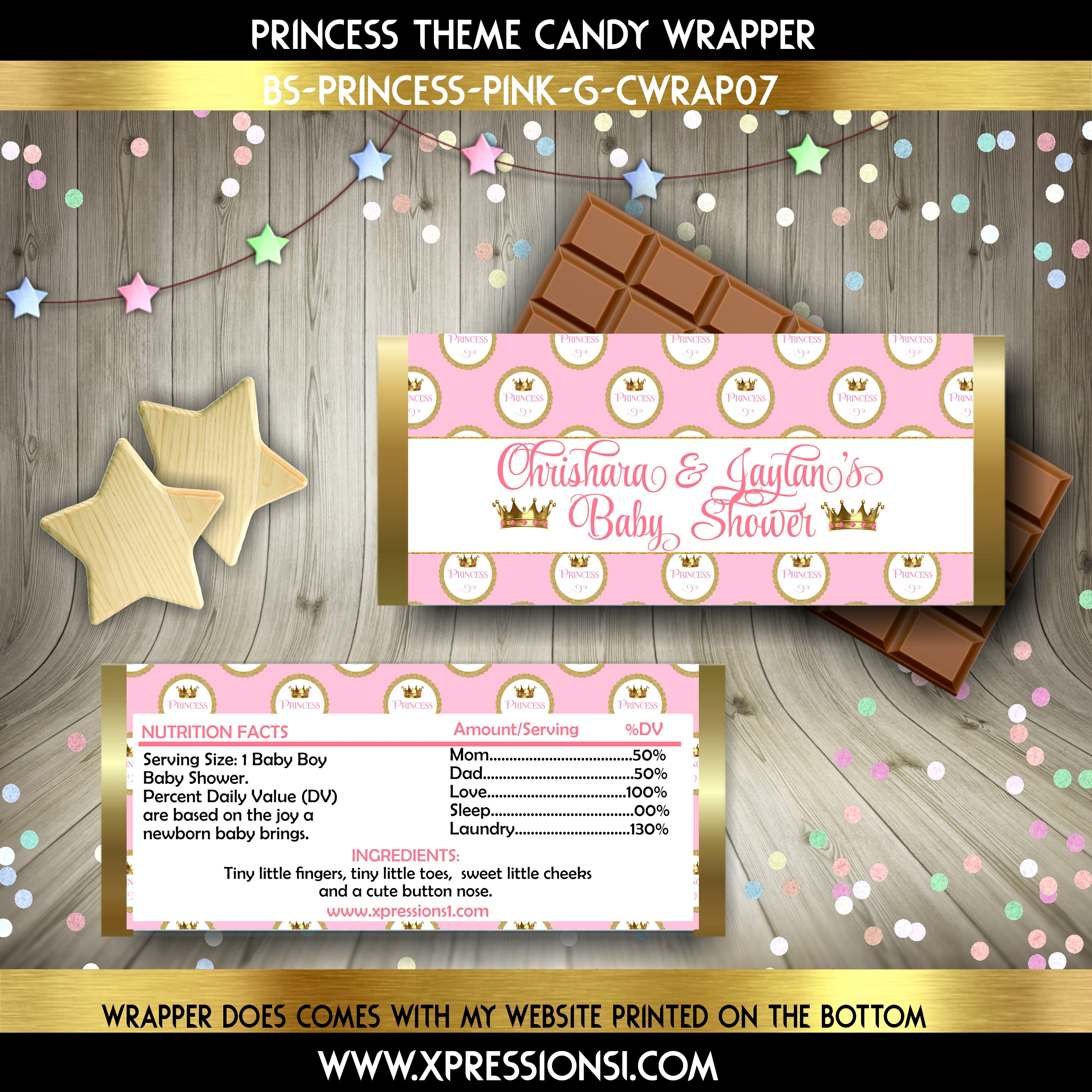 Princess Crown Candy Wrapper