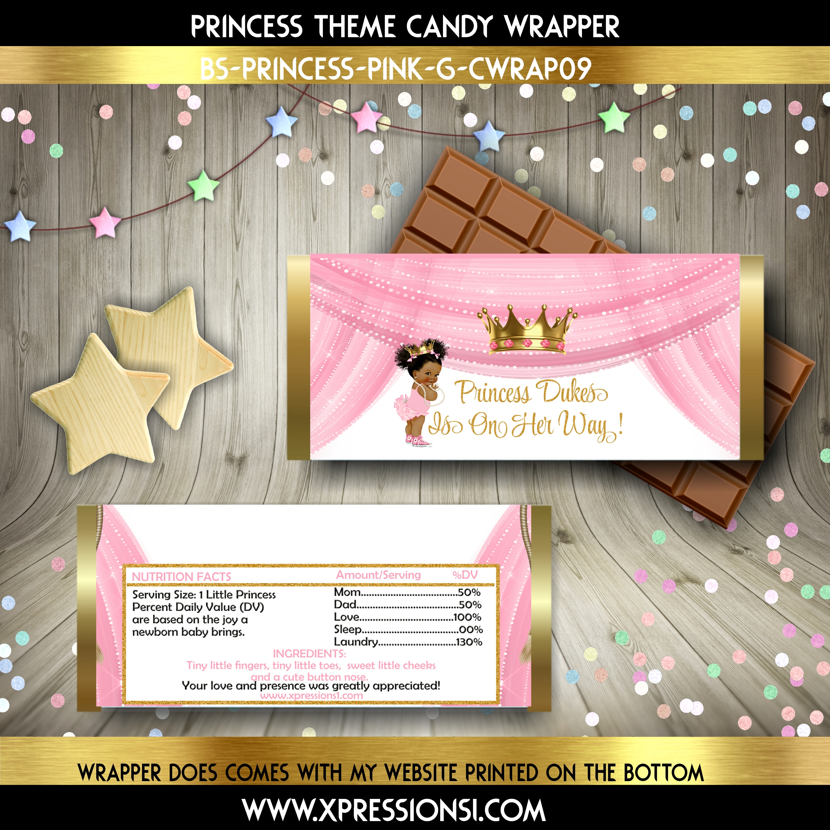 Diva Princess in Sneakers Candy Wrapper