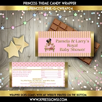 Glitter Gold Stripes Candy Wrapper