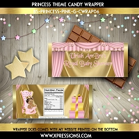 Pink Curtains Princess Candy Wrapper
