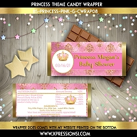 Royal Pink and Gold Elegance Candy Wrapper