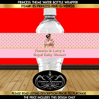 Gold Polka Dots on Pink Water Bottle Wrapper