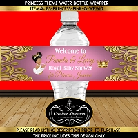 Royal Princess Water Bottle Wrapper