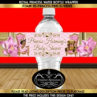 Ballerina Princess on Button Tuck Water Bottle Wrapper