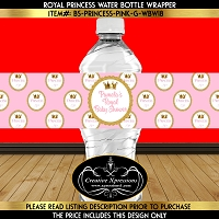 Pink Princess Water Bottle Wrapper