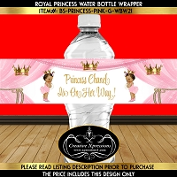 Princesses on Pink Water Bottle Wrapper