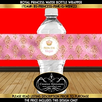Pink and Gold Luxury Water Bottle Wrapper