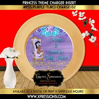Princess with Golden Sprinkles Charger Insert