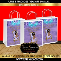 Royal Princess with Florals Gift Bag