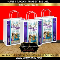 Diva Princess Gift Bag Label