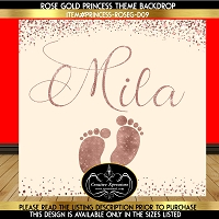 Simply Rose Gold Baby Feet Backdrop