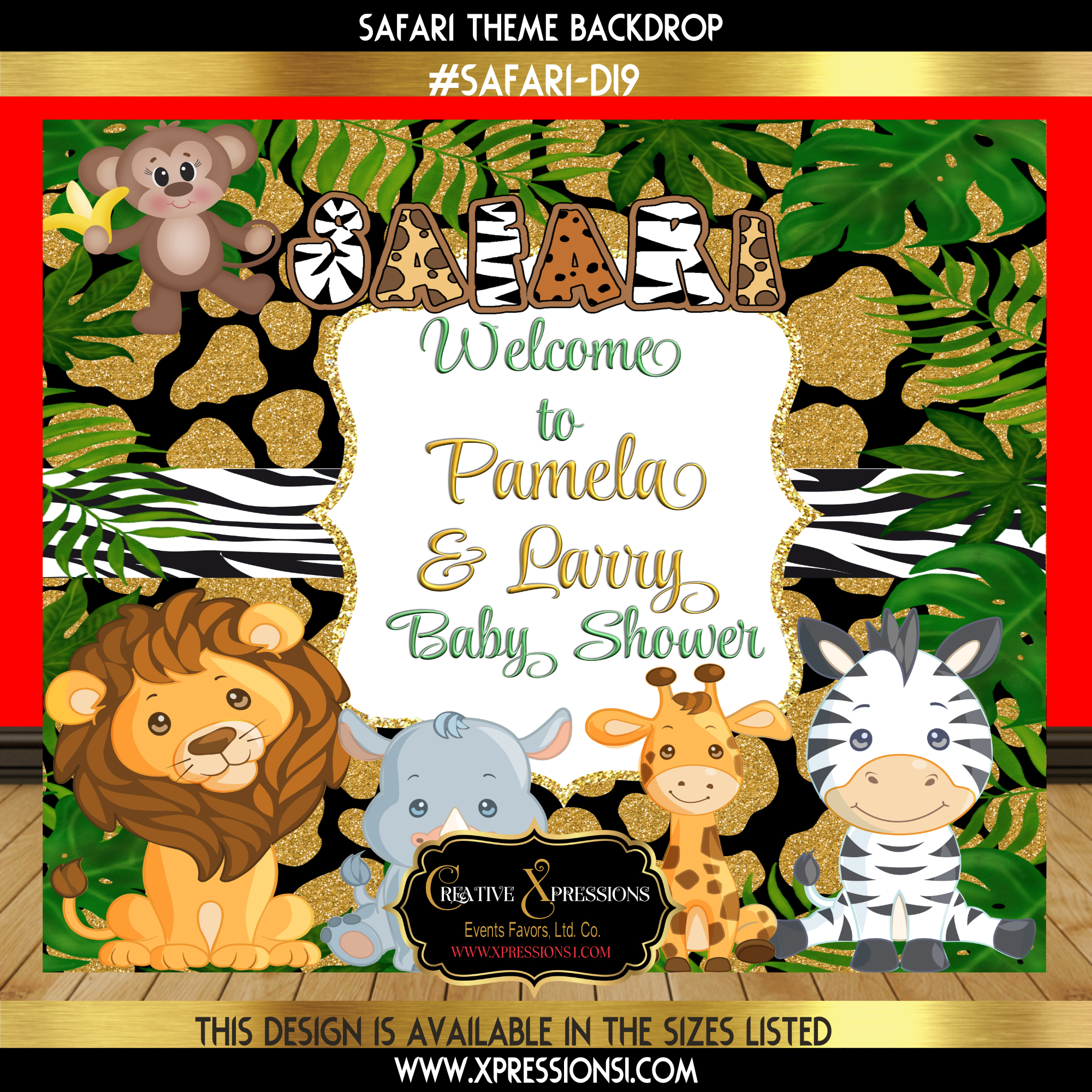 Safari Hunt Baby Shower Backdrop