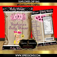 Baby Shower Sunflower Theme Chip Bag