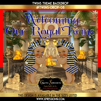 Egyptian Princes Baby Shower Backdrop