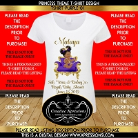 Royal Princess on Purple Throne Tshirt Design