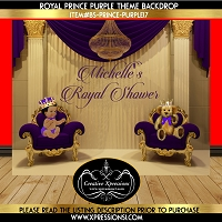 Purple Prince Royalty Backdrop