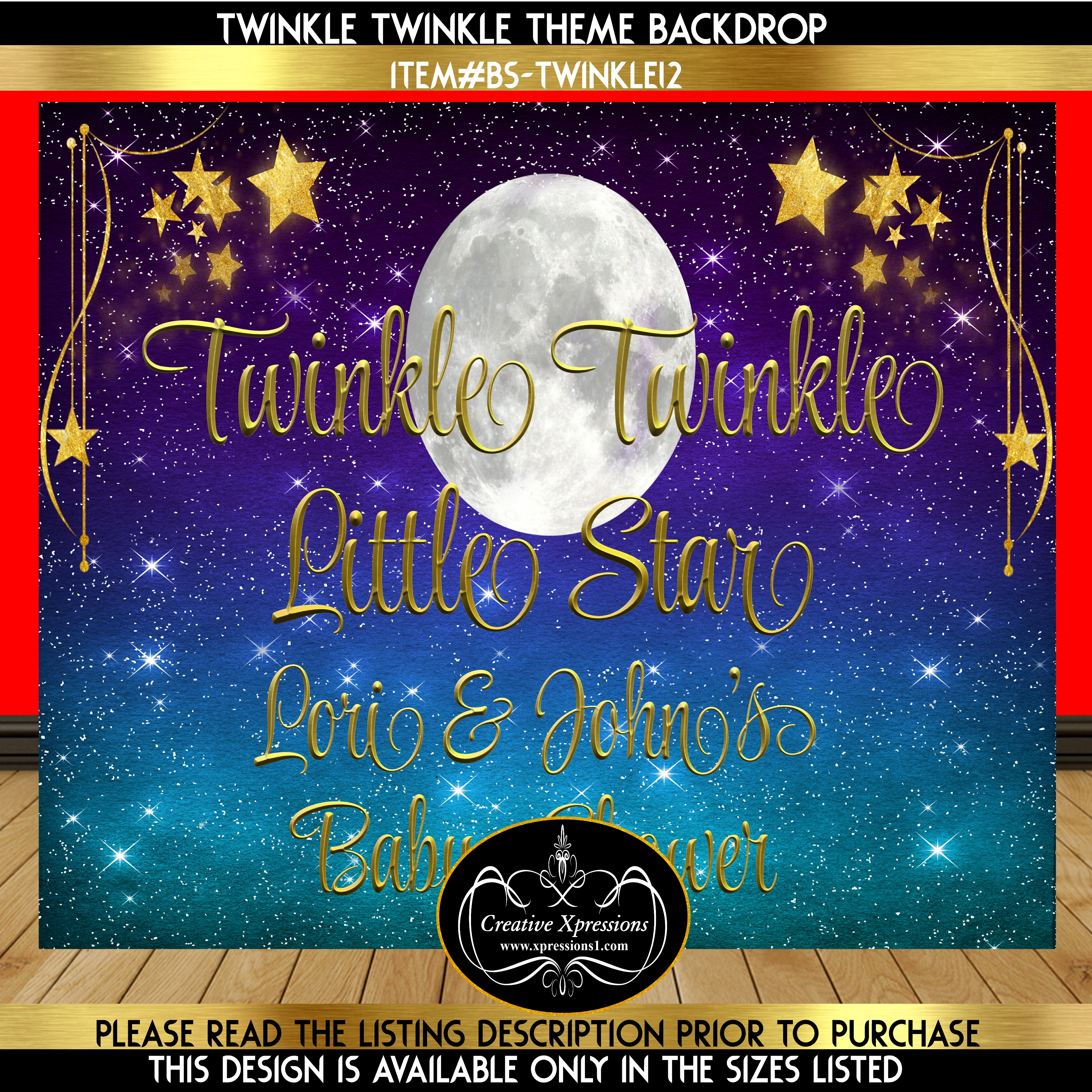 Twinkle Twinkle Moonlight Backdrop