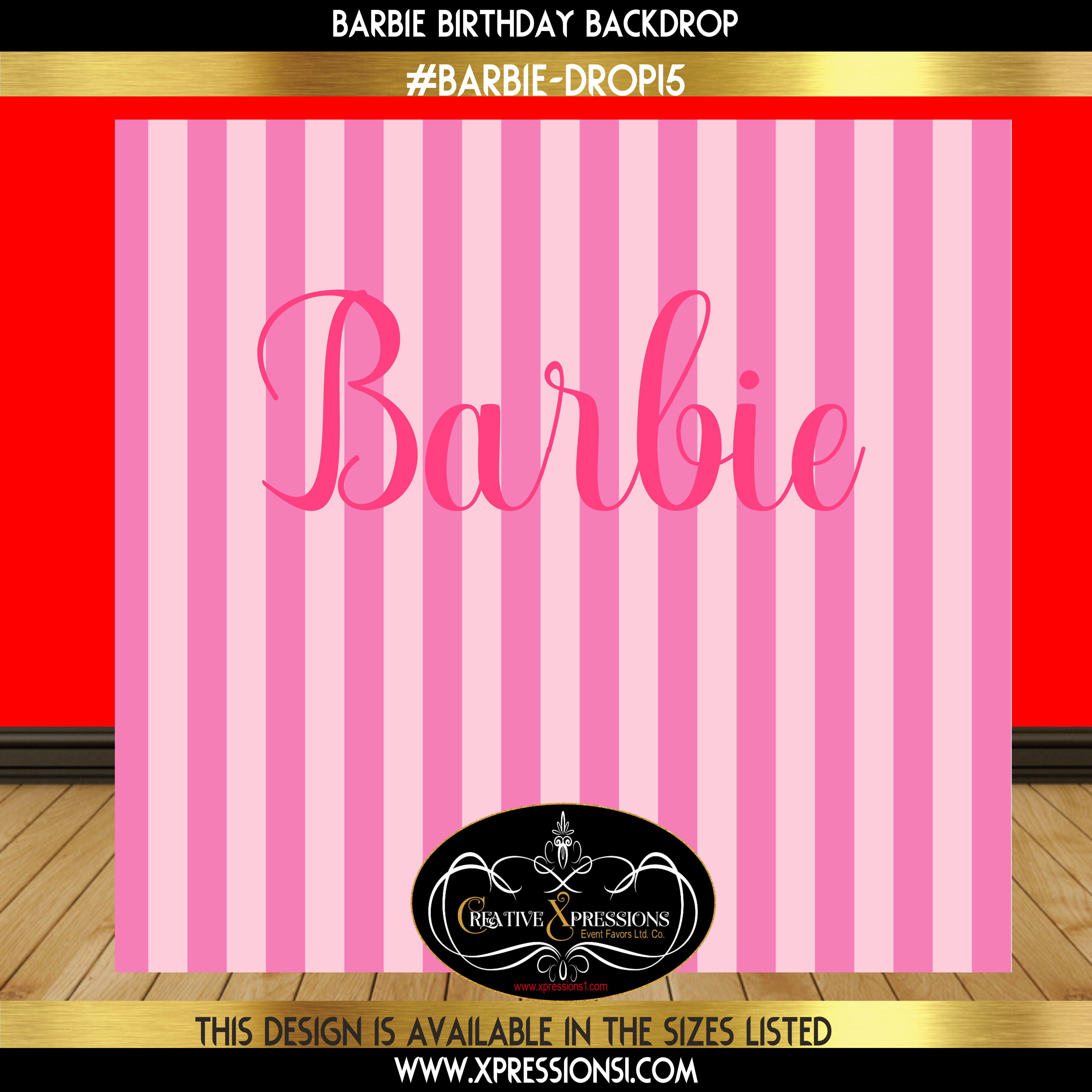 Barbie Birthday Backdrop