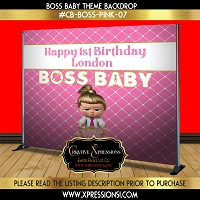 I'm the Boss Birthday Backdrop
