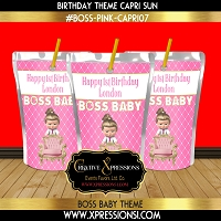 I'm the Boss Birthday Capri Sun