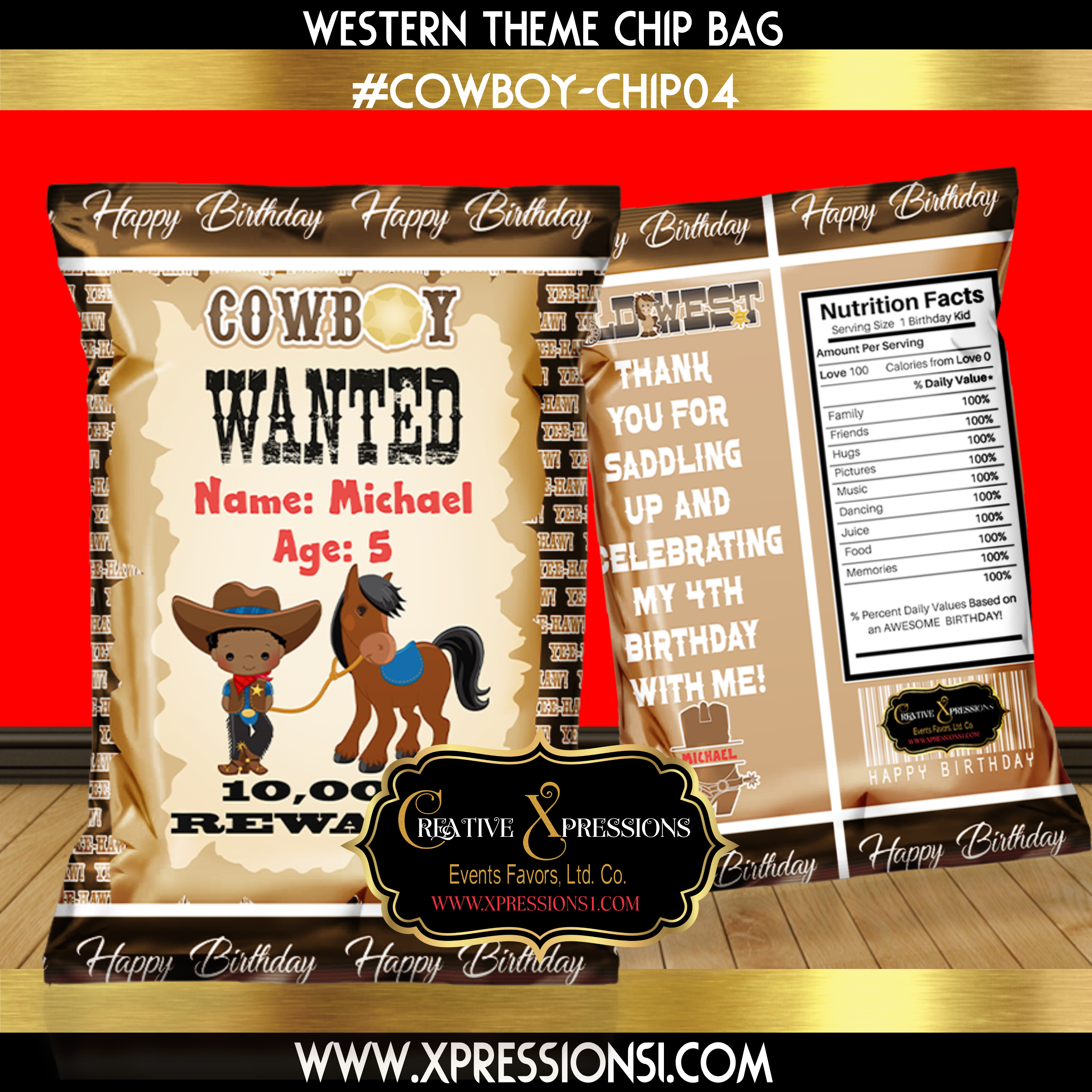 A Wanted Boy Chip Bag