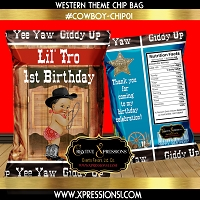 Cowboy Blues Chip Bag