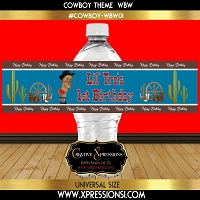 Cowboy Blues Water Bottle Wrapper