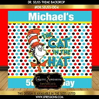 Cat in the Hat Backdrop