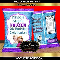 Ice Blue Frozen Chip Bag