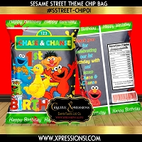Paint Splatter Sesame Street Chip Bag
